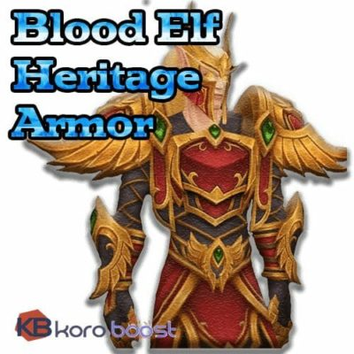 Blood Elf Heritage Armor Boost