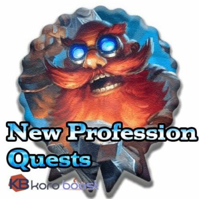 New Professions Quest - Upgrade your Professions