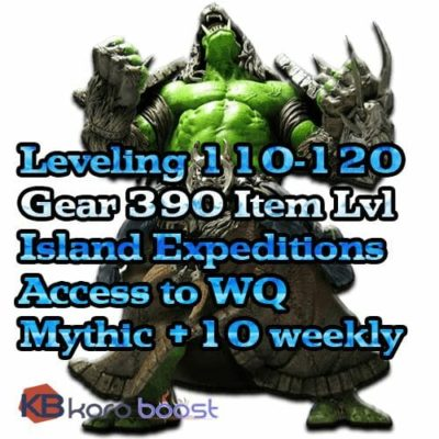 Buy BFA Leveling + Gear Pro Package cheap boost service or carry run