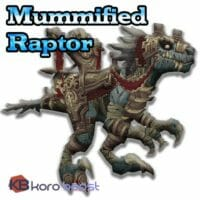 Mummified Raptor Skull Mount Boost