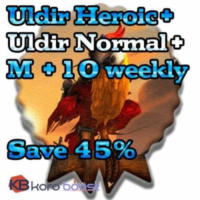 Uldir Heroic + Uldir Normal + 10 weekly Chest Bundle