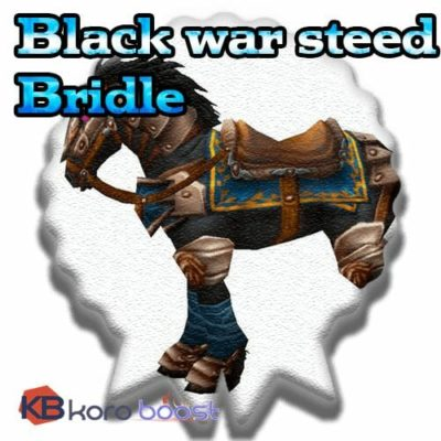Buy Black War Steed Bridle cheap boost service or carry run