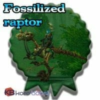 Fossilized Raptor