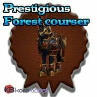 Prestigious Forest Courser