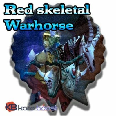 Buy Red Skeletal Warhorse cheap boost service or carry run