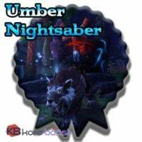 Umber Nightsaber